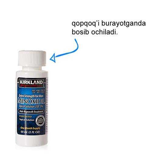 minoxidil-qopqogi